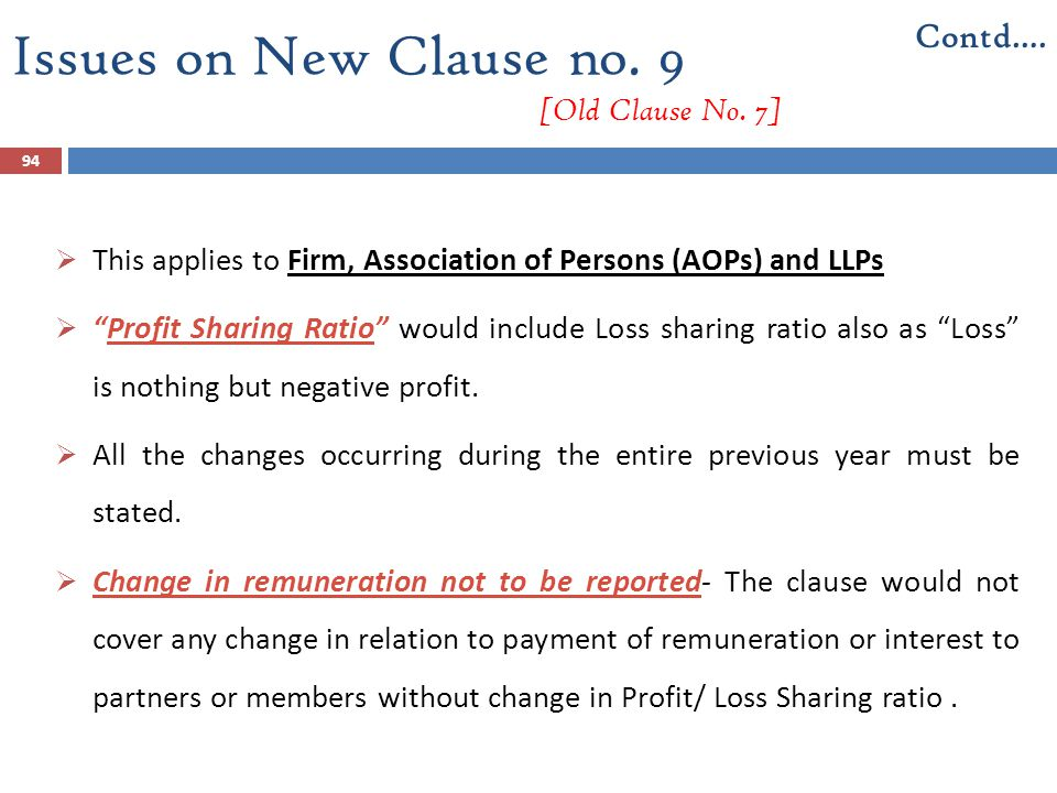 Issues on New Clause no. 9 [Old Clause No. 7]